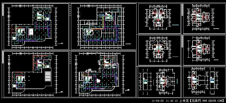 某商住楼弱电平面图的下载地址,商业建筑,商场商铺