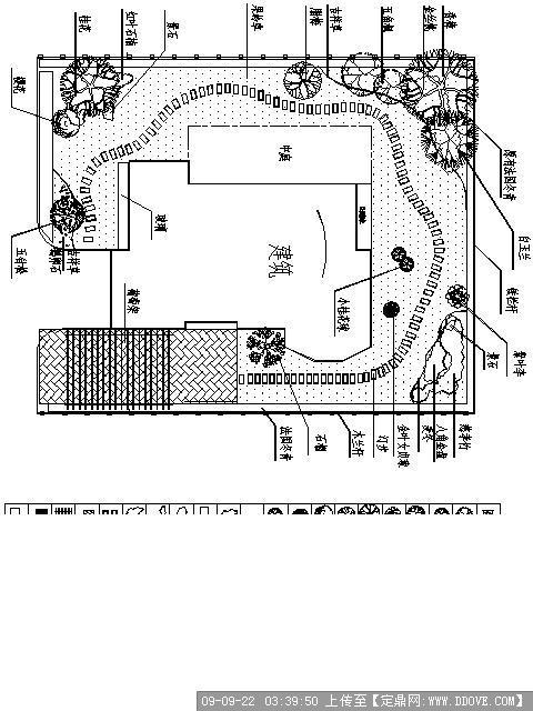 某别墅绿化平面图; 定鼎园林 园林方案设计; 环艺平面图_环艺手绘平面