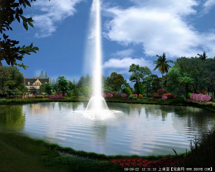 水景喷泉的下载地址,园林方案设计,公园景观,园林景观图片