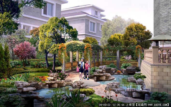 别墅景观设计(效果图)
