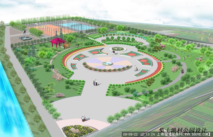 宁波某公园鸟瞰图
