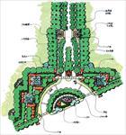 效果图 景观/住宅小区景观规划平面图