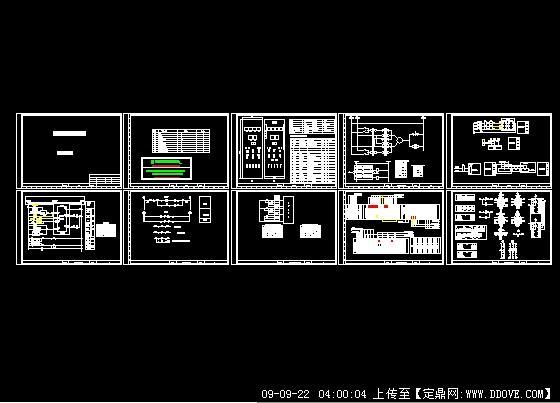 某自备电厂发电机控制柜图纸