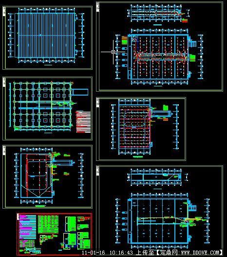 某物流中心冷库电气平面图