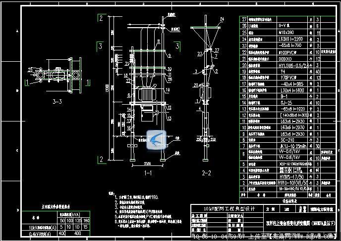 城网设计变压器图纸安装小我()世界图纸的台架改造别墅木屋图片