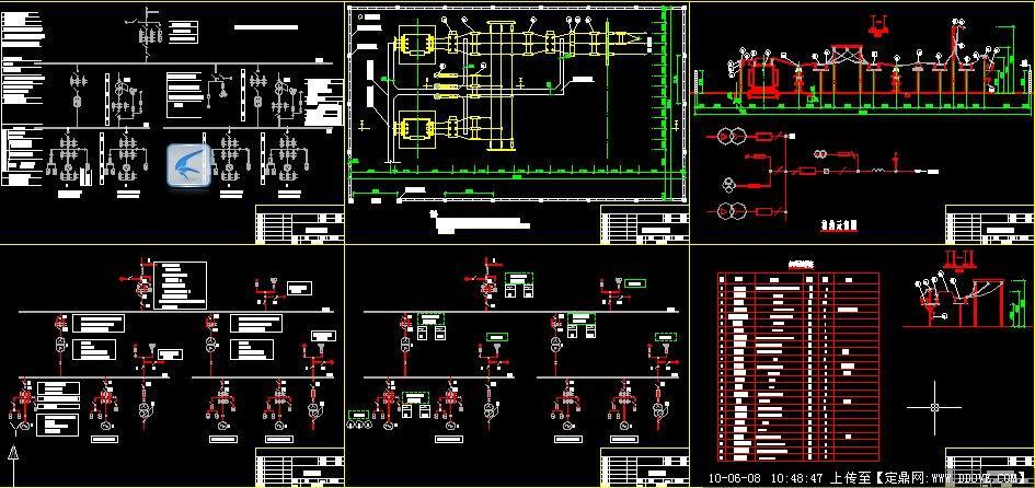 某电站电气一次设计图