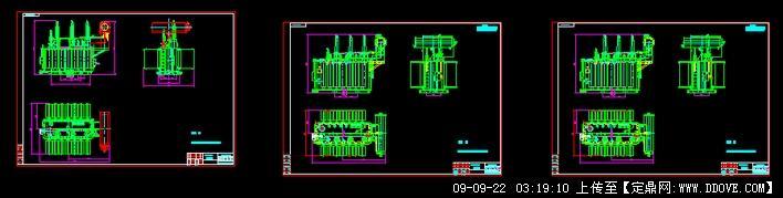 110kv变压器cad图纸