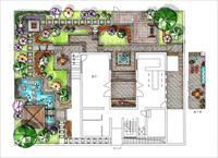 小庭院设计平面图_小庭院景观设计方案总平图