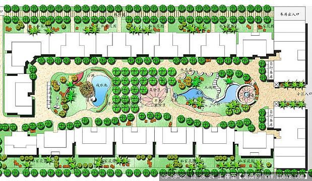 小区绿化景观设计平面图