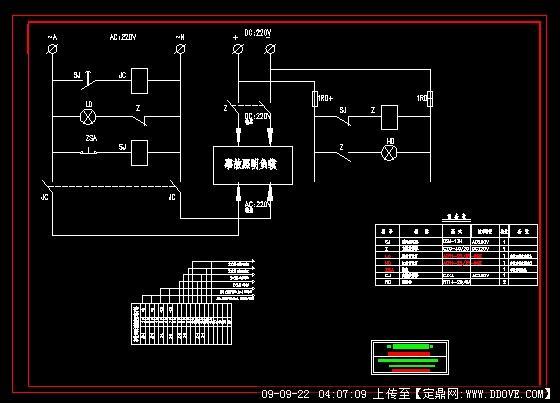 事故照明切换装置原理接线图