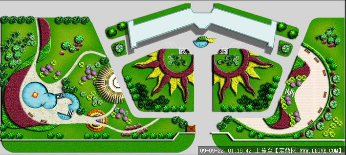 定鼎網 定鼎園林 園林方案設計 街頭綠地 游園園林景觀設計平面圖