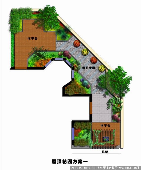 屋頂花園方案效果圖紙的下載地址,園林方案設計,花園