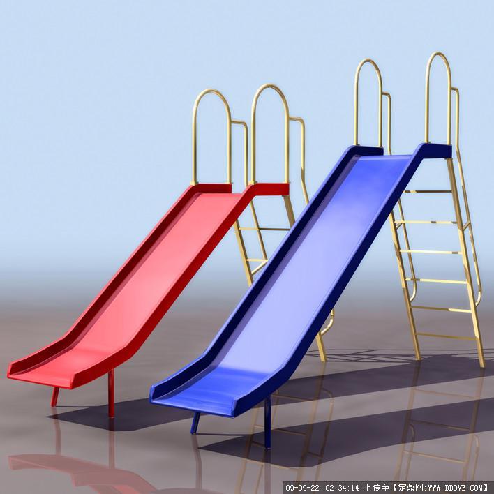 定鼎网 定鼎素材 三维模型 娱乐健身 滑梯模型  序号 文件名