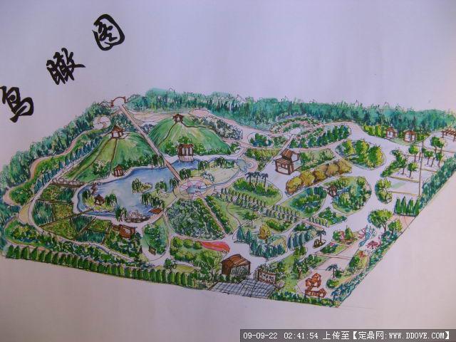 园林规划手绘平面图