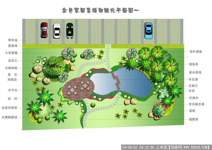 售楼部景观绿化平面效果图 cad施工图