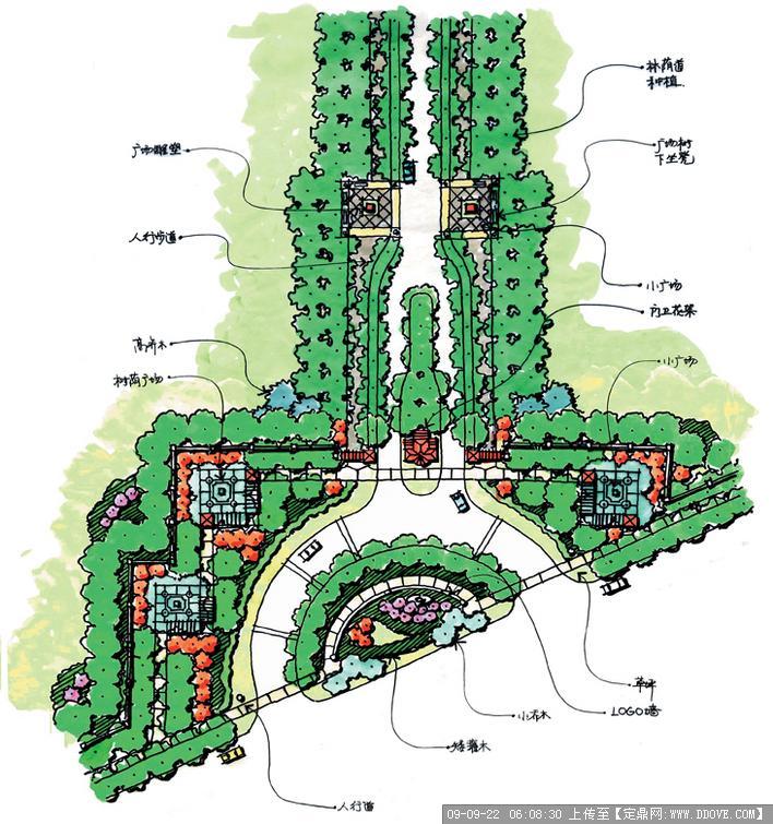 住宅小区景观规划平面图