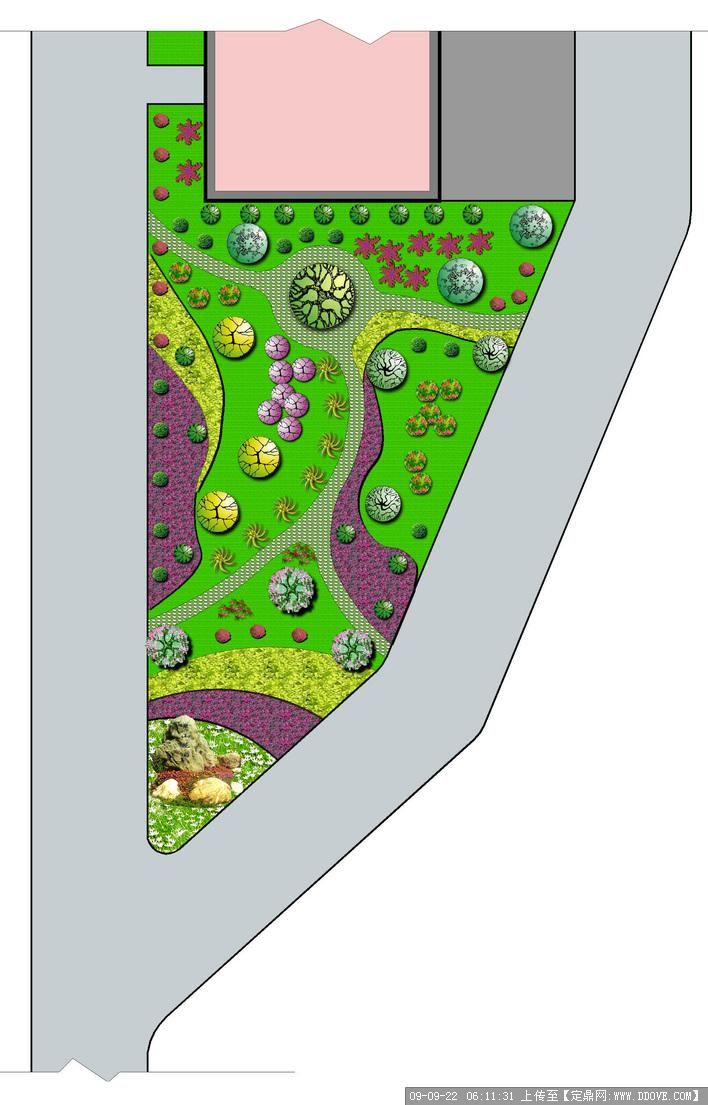 组团绿地手绘平面图