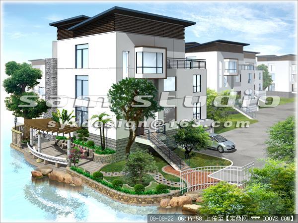 东莞旗峰天下别墅花园设计方案的下载地址,园林方案