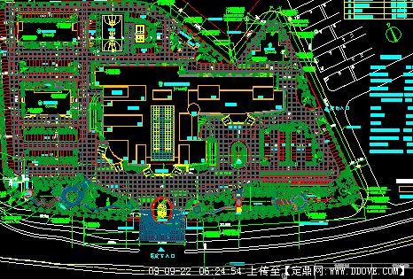 某医院景观绿化方案总平面图