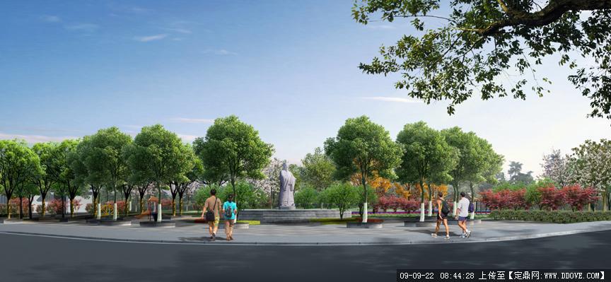 公园主入口的下载地址,园林方案设计,公园景观,园林_.