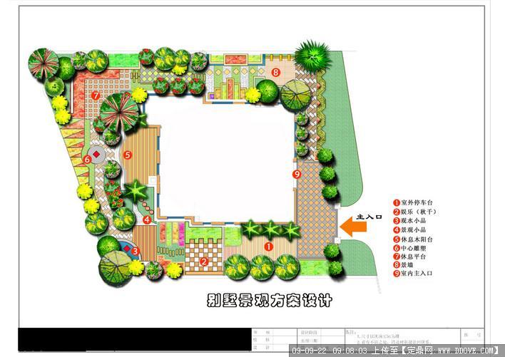 欧式别墅庭院设计方案