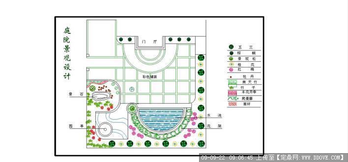 园院设计图-小院花园设计