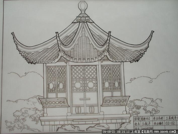 苏州古亭手绘图