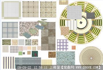 定鼎网 定鼎园林 园林方案设计 公园景观 道路铺装  序号 文件名