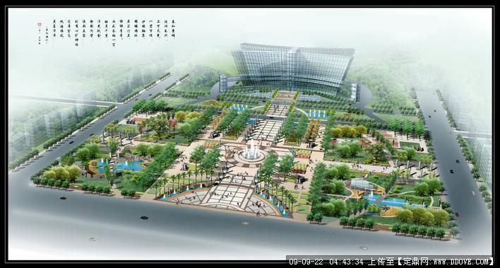 某市政广场设计效果图的下载地址,园林方案设计,公园