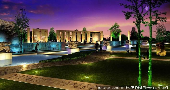 绝好广场夜景设计的下载地址,园林方案设计,公园景观