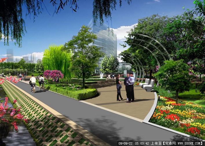 滨水小广场景观的下载地址,园林方案设计,公园景观,_.