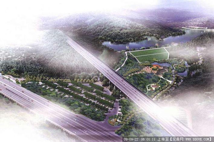 深圳羊台山森林公园鸟瞰图