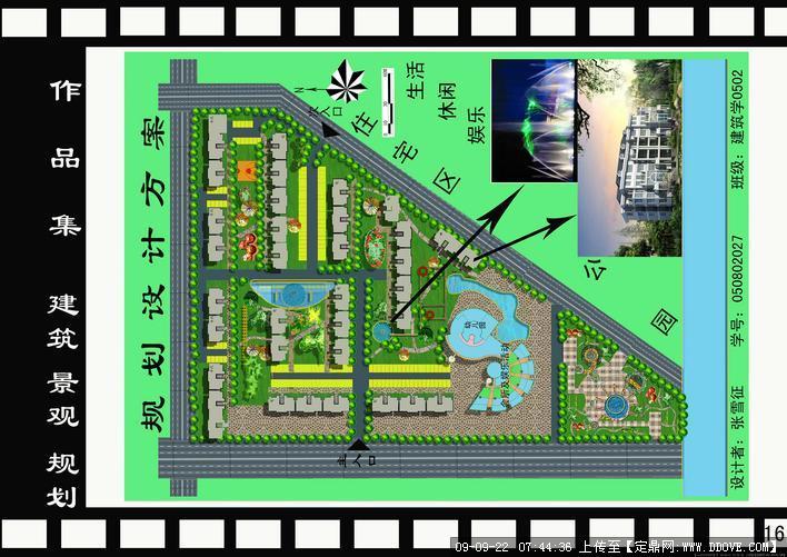 小型住宅小区图纸设计景观图纸方案平方费每规划消防图片