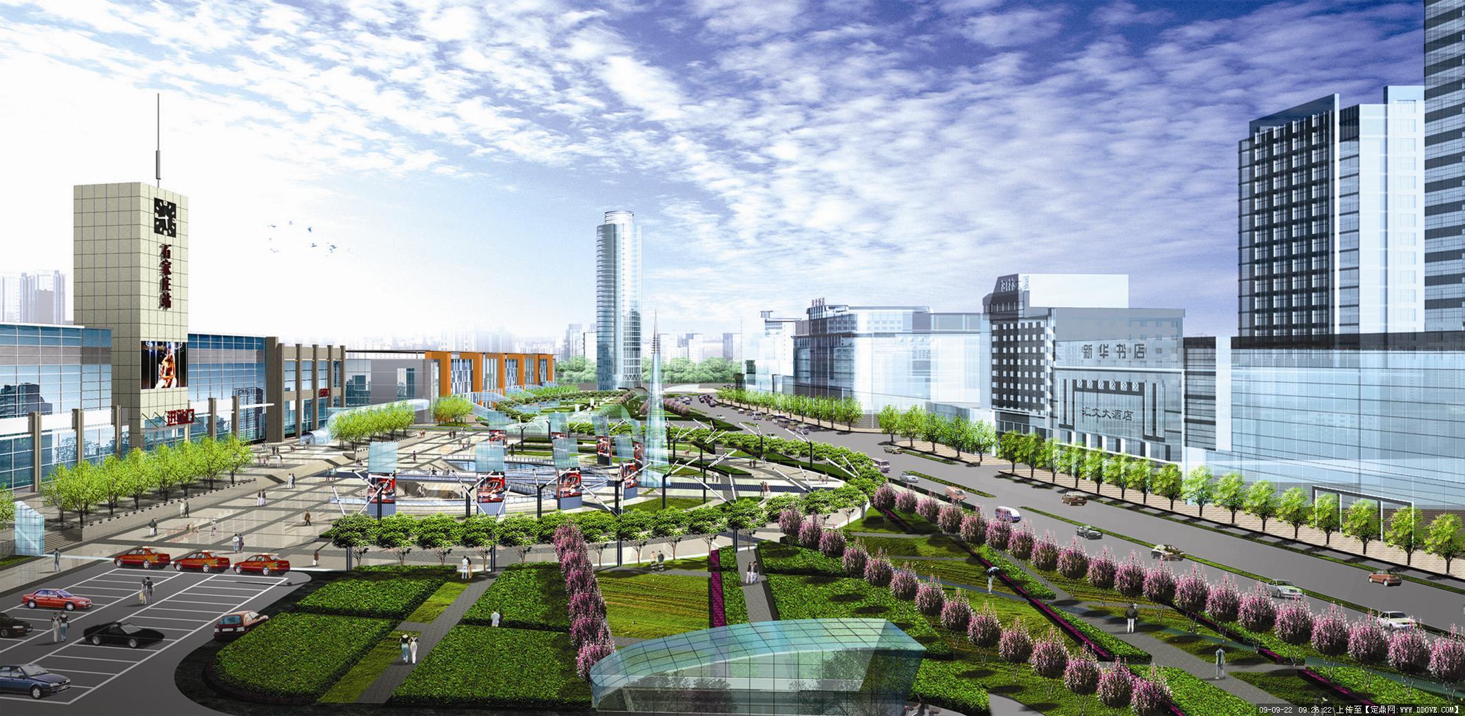 石家庄火车站外环境景观设计