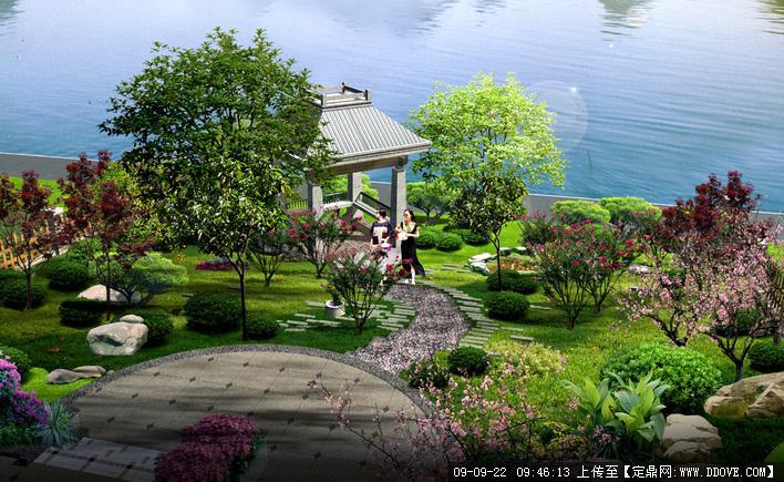亭台水榭景观透视效果图的下载地址图片