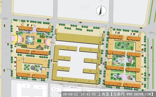 cad和ps平面小区绿化设计