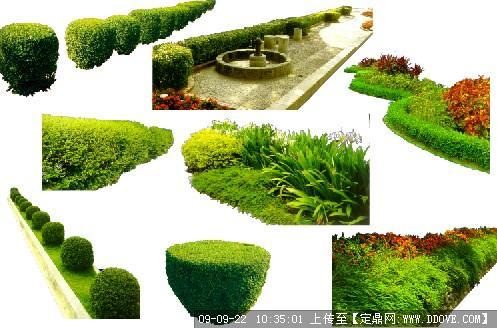 psd花圃效果图分层素材