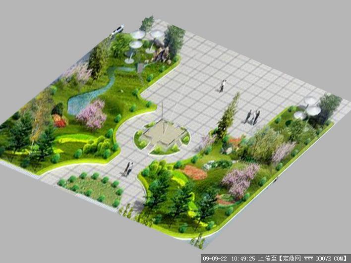 公园休闲小广场景观方案