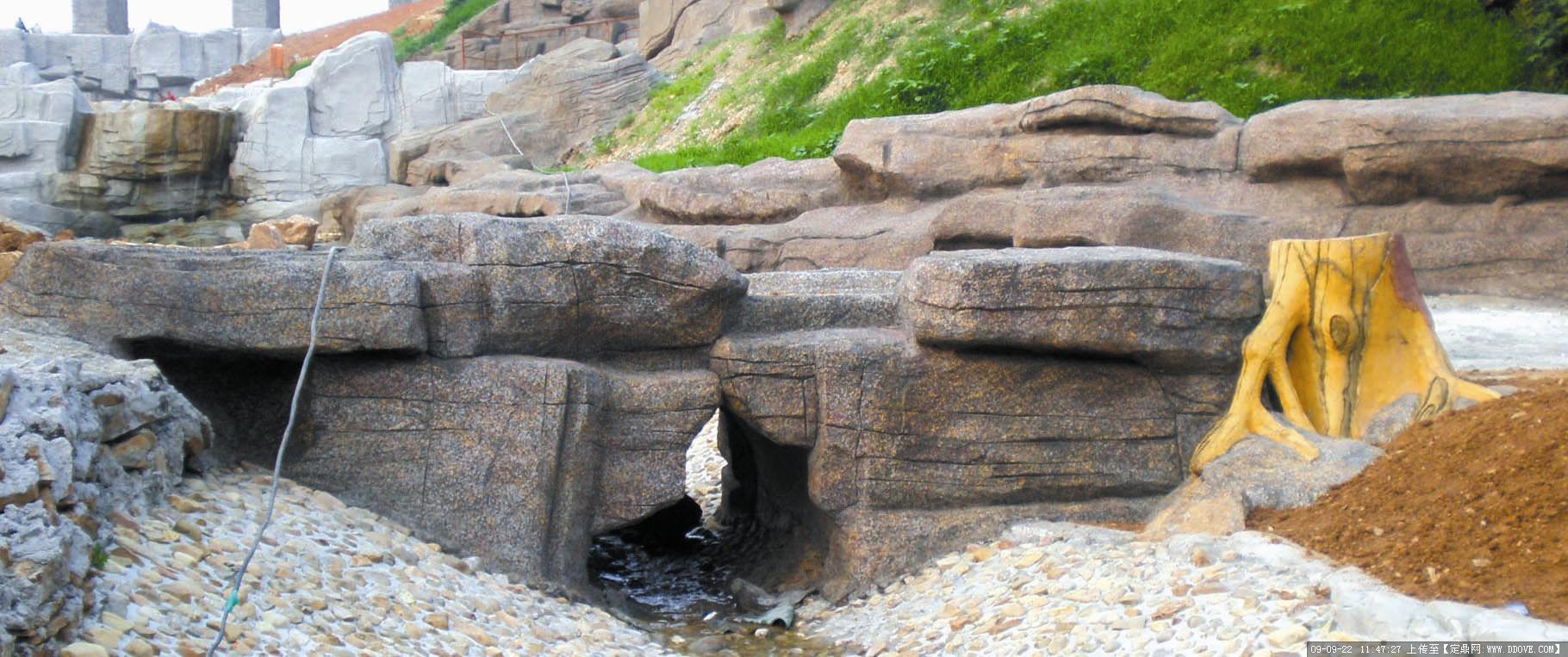 假山塑石——钢筋混凝土结构--塑石桥涵