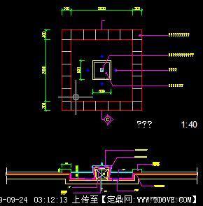 景观小水池CAD施工图纸