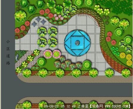 街头绿地_街头绿地小游园景观方案全套效果图