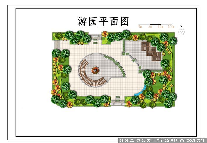 小游园景观方案总平面图
