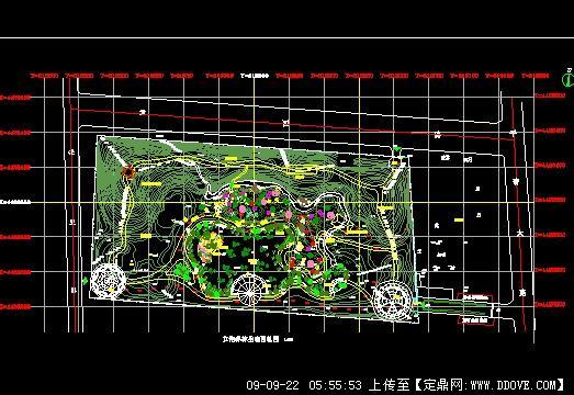 某生态园景观设计方案cad总平面图