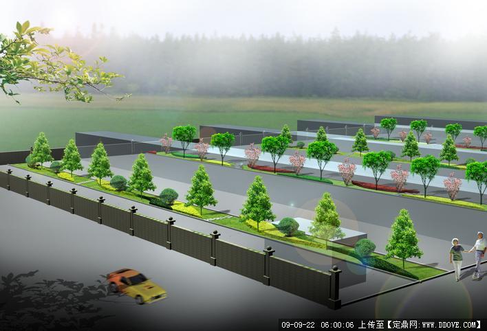 敬老院绿化景观设计图片;