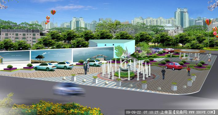 景观休闲小广场设计方案效果图