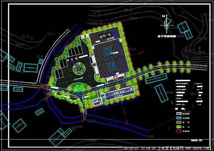 定鼎網 定鼎園林 園林方案設計 城市廣場 廣場景觀設計方案  序號