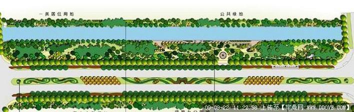 定鼎网 定鼎园林 园林效 果图 道路景观 道路绿化平面图jpg格式  序号