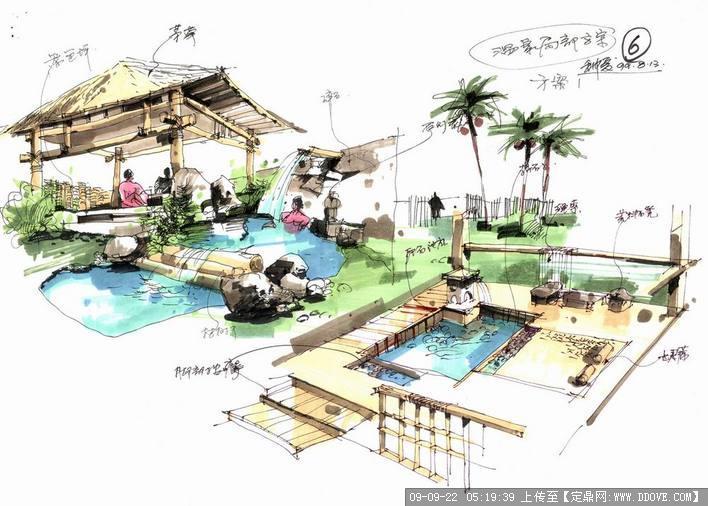 手绘效果图的下载地址,园林方案设计,公园景观,园林_.