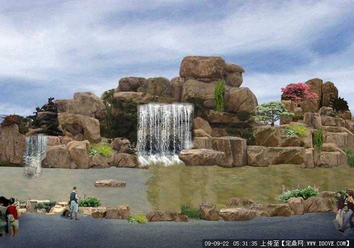 假山效果的下载地址,园林方案设计,公园景观,园林景观