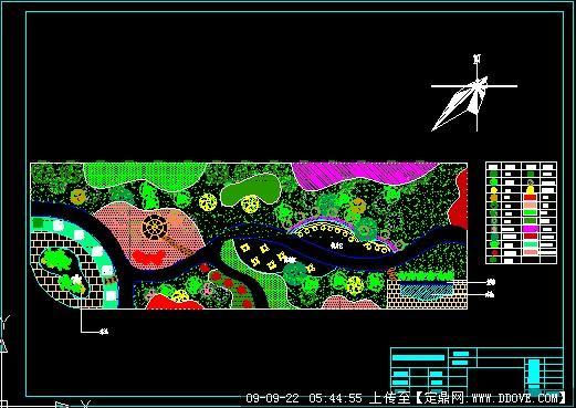 定鼎网 定鼎园林 园林方案设计 公园景观 绿化总平面图  序号 文件名